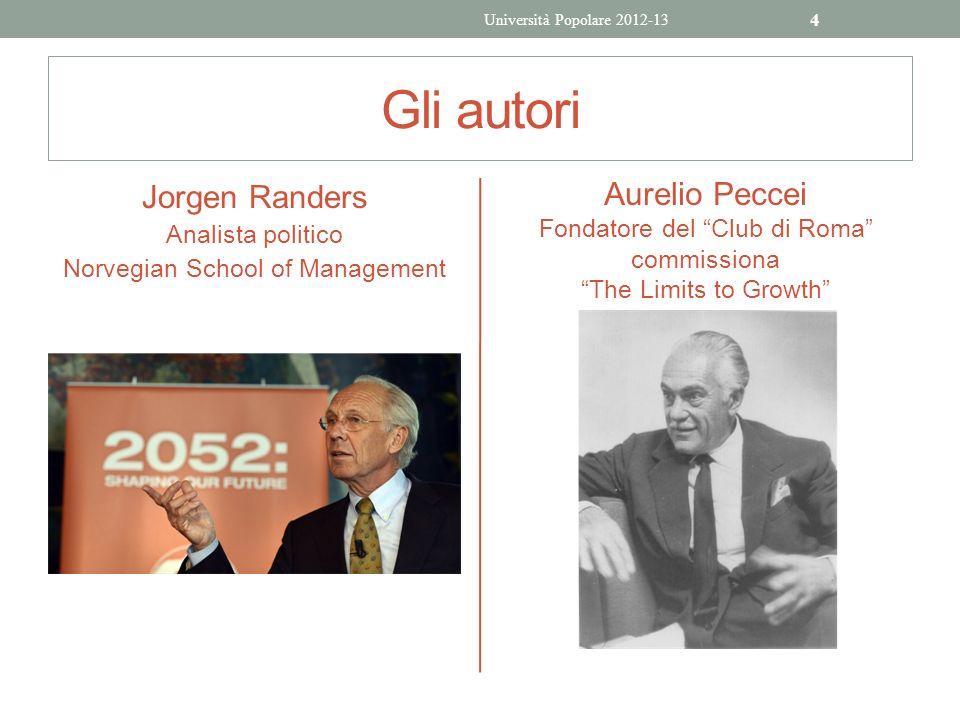 Gli autori Jorgen Randers Aurelio Peccei Analista politico