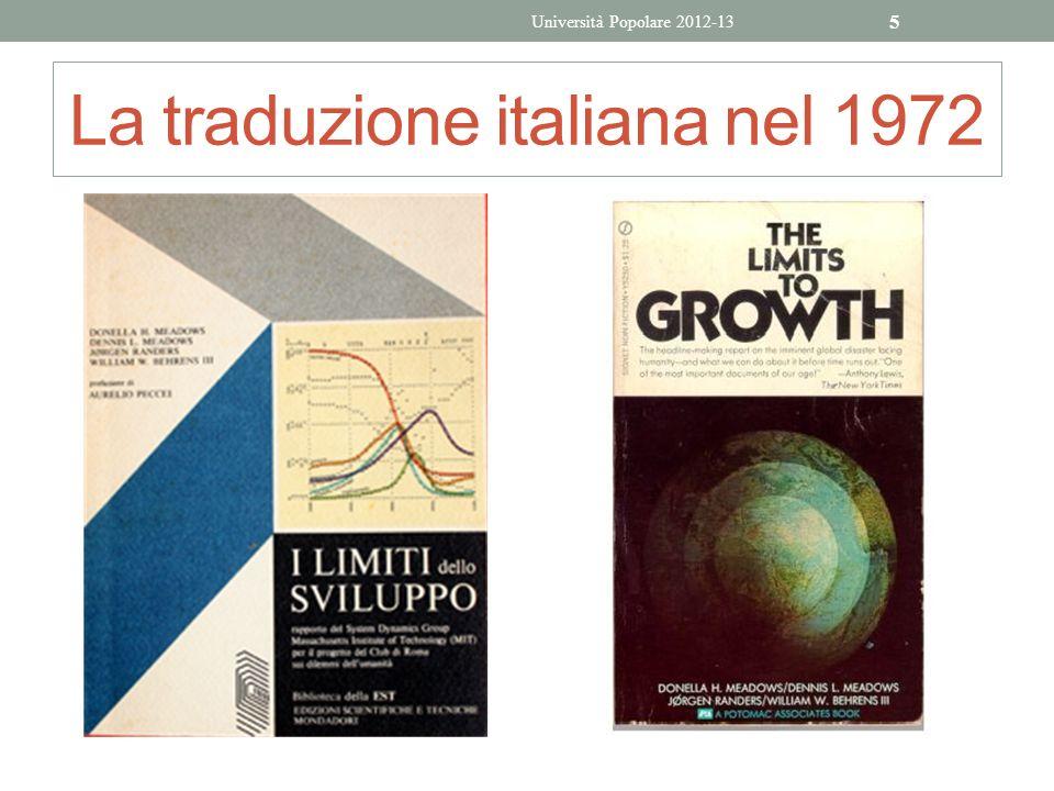 La traduzione italiana nel 1972