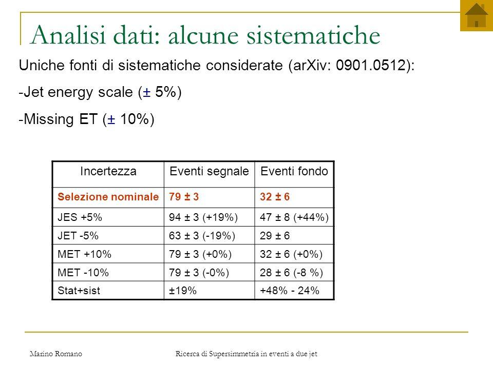 Analisi dati: alcune sistematiche