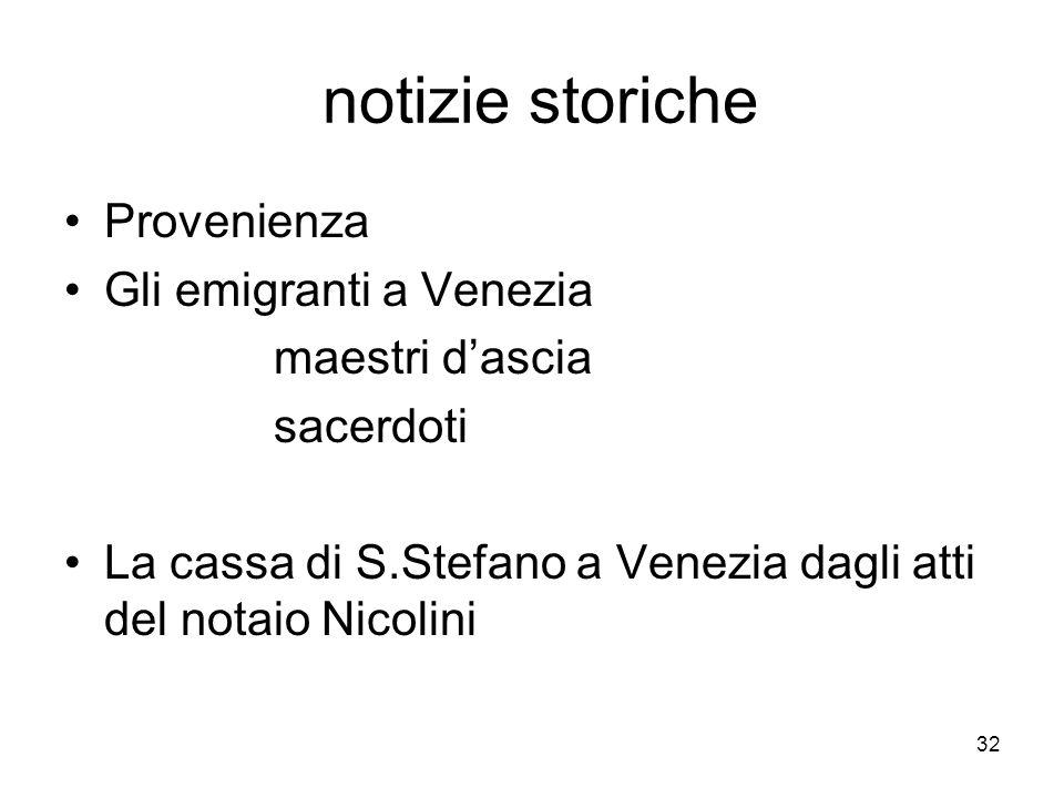 notizie storiche Provenienza Gli emigranti a Venezia maestri d'ascia