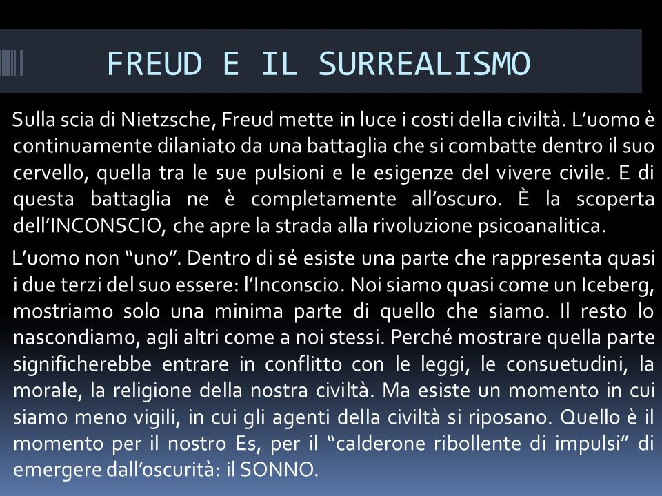 FREUD E IL SURREALISMO