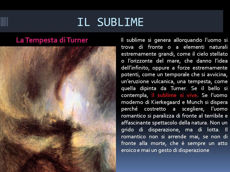 IL SUBLIME La Tempesta di Turner
