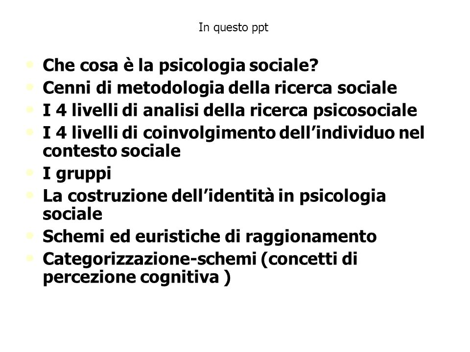 Che cosa è la psicologia sociale