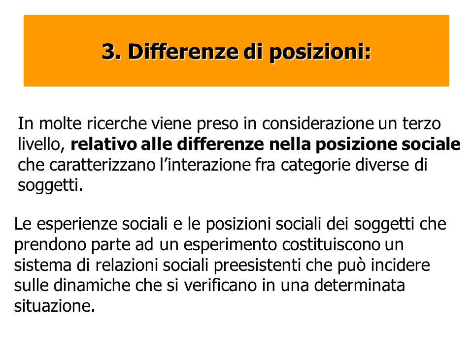 3. Differenze di posizioni:
