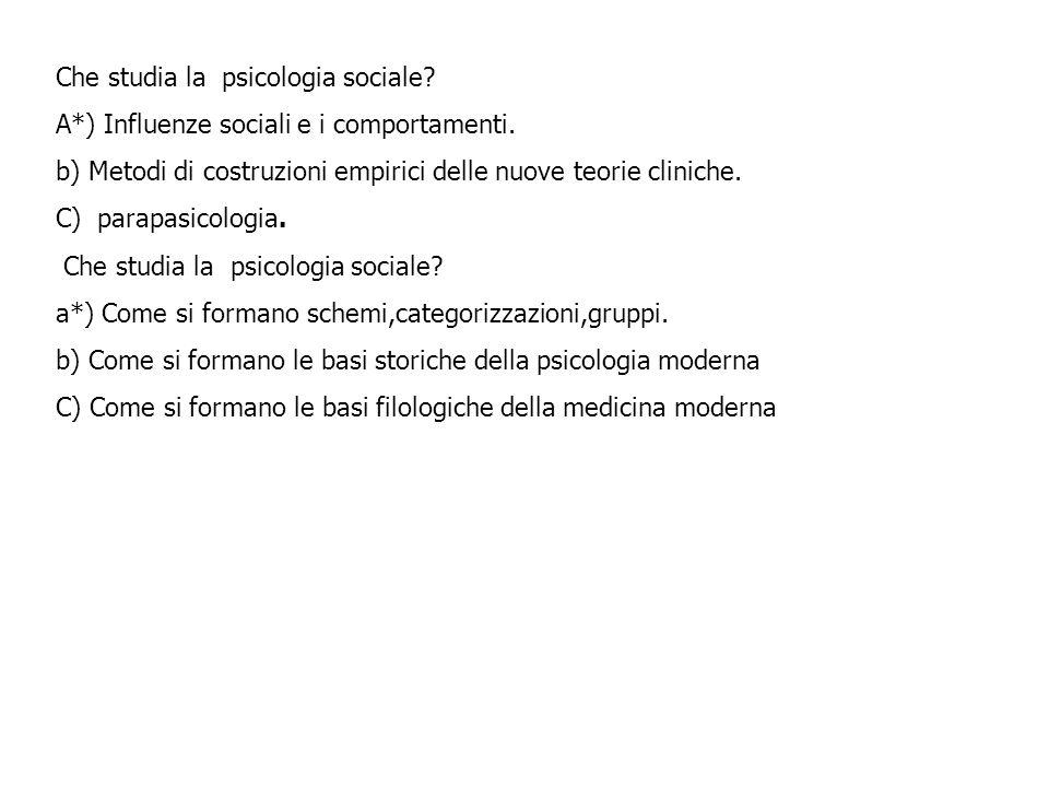 Che studia la psicologia sociale