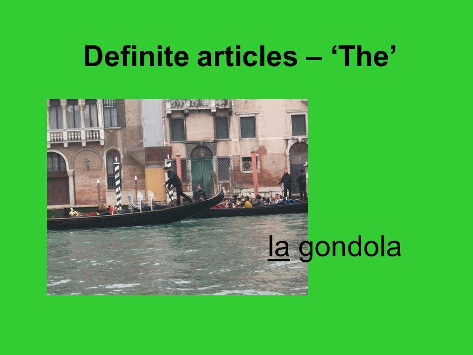Definite articles – 'The'
