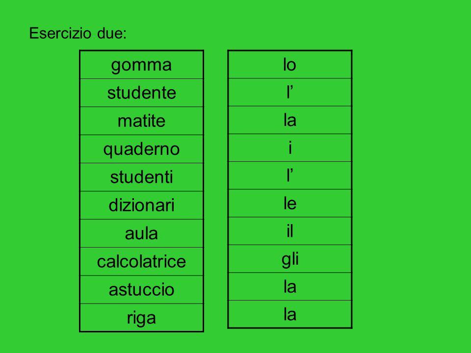 gomma studente matite quaderno studenti dizionari aula calcolatrice