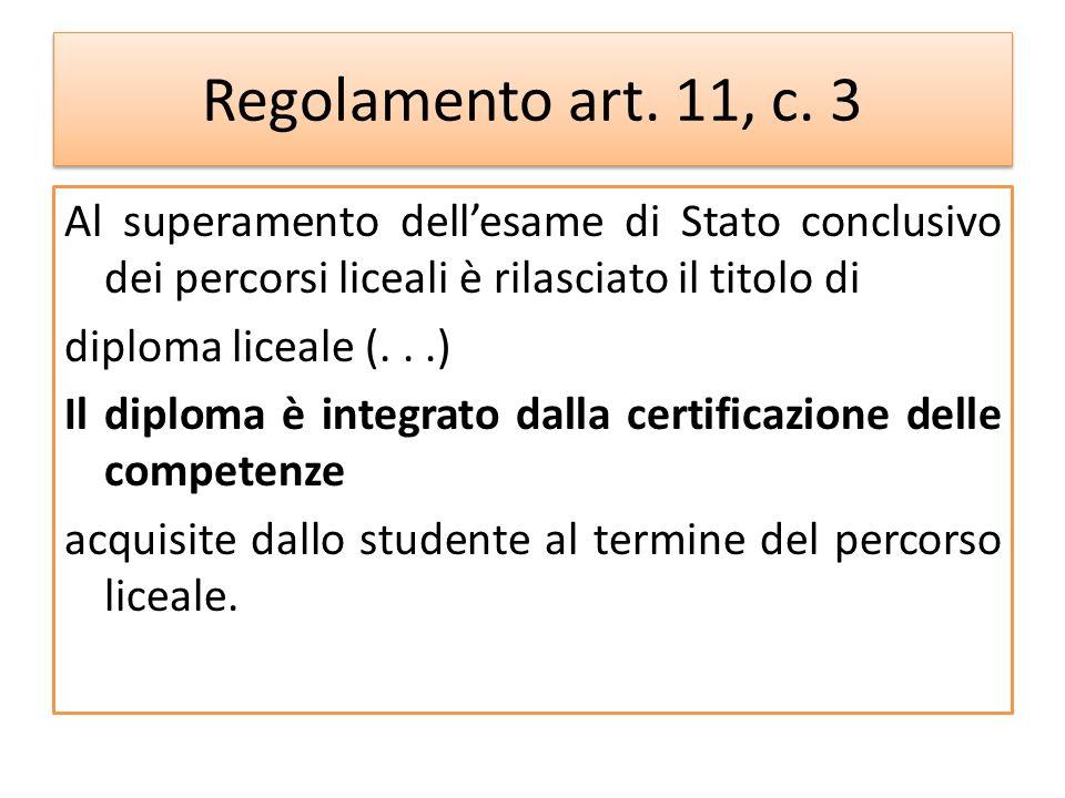 Regolamento art. 11, c. 3