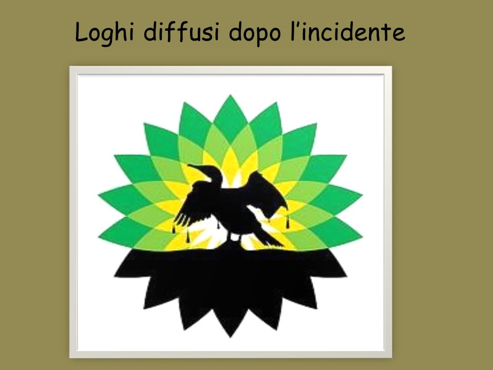 Loghi diffusi dopo l'incidente