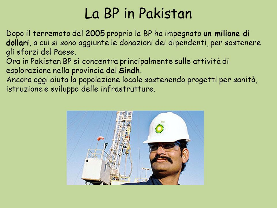 La BP in Pakistan