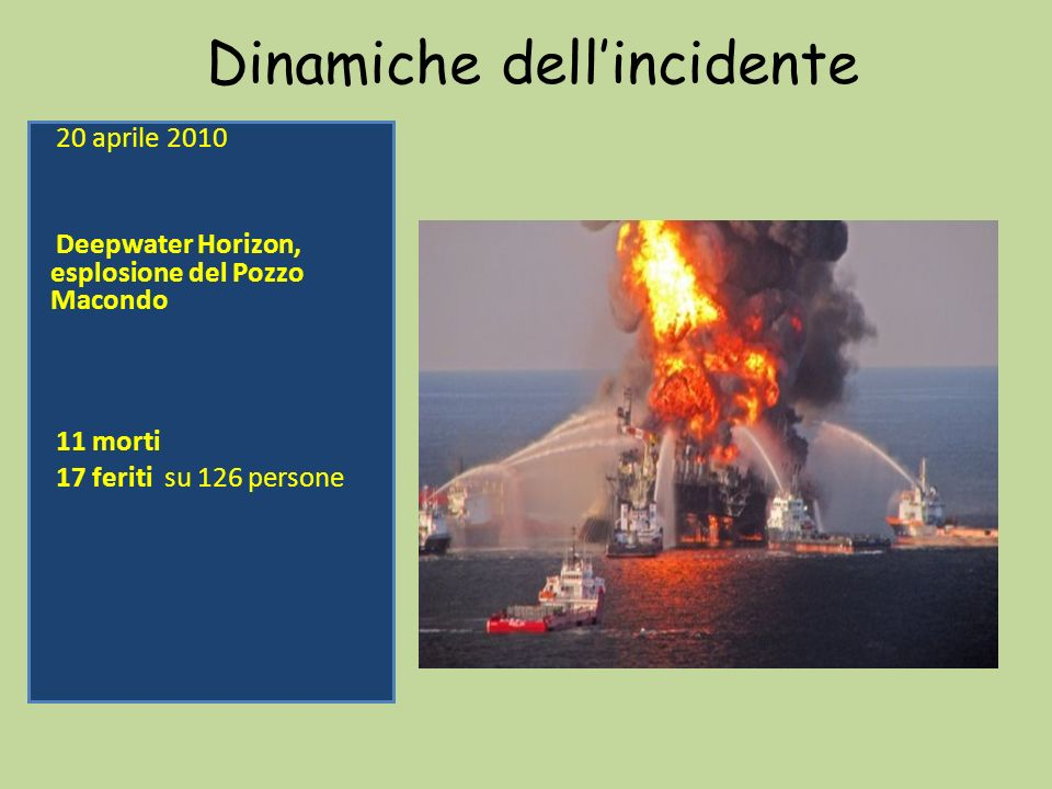 Dinamiche dell'incidente