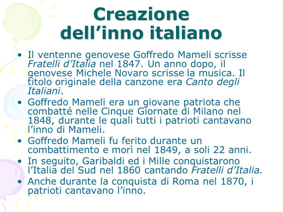 Creazione dell'inno italiano