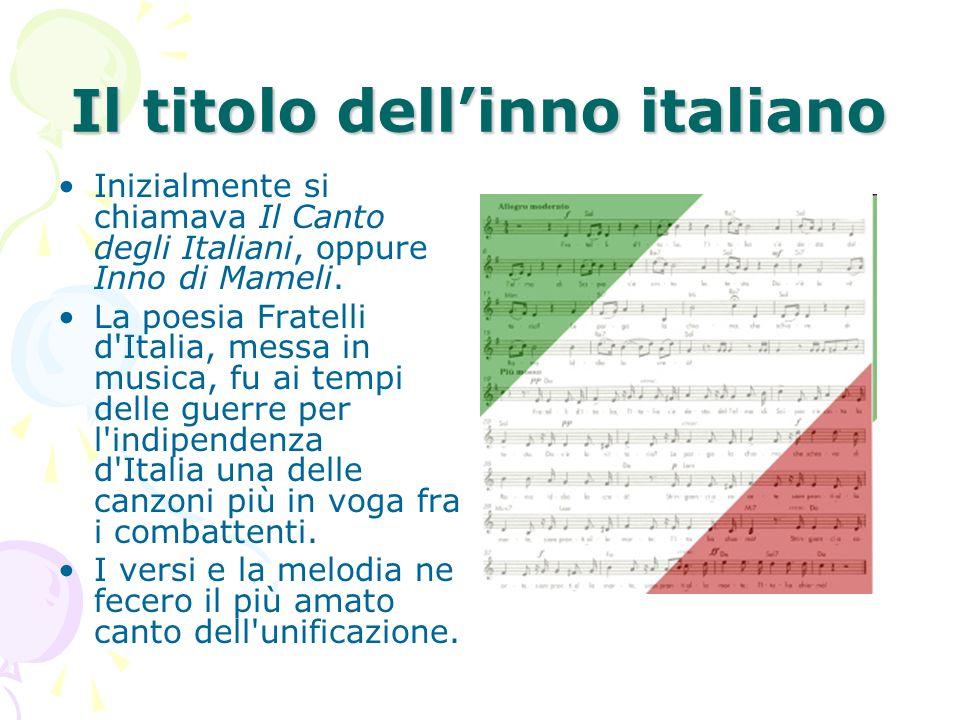 Il titolo dell'inno italiano