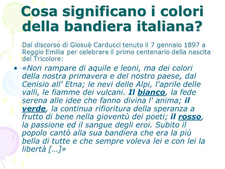Cosa significano i colori della bandiera italiana