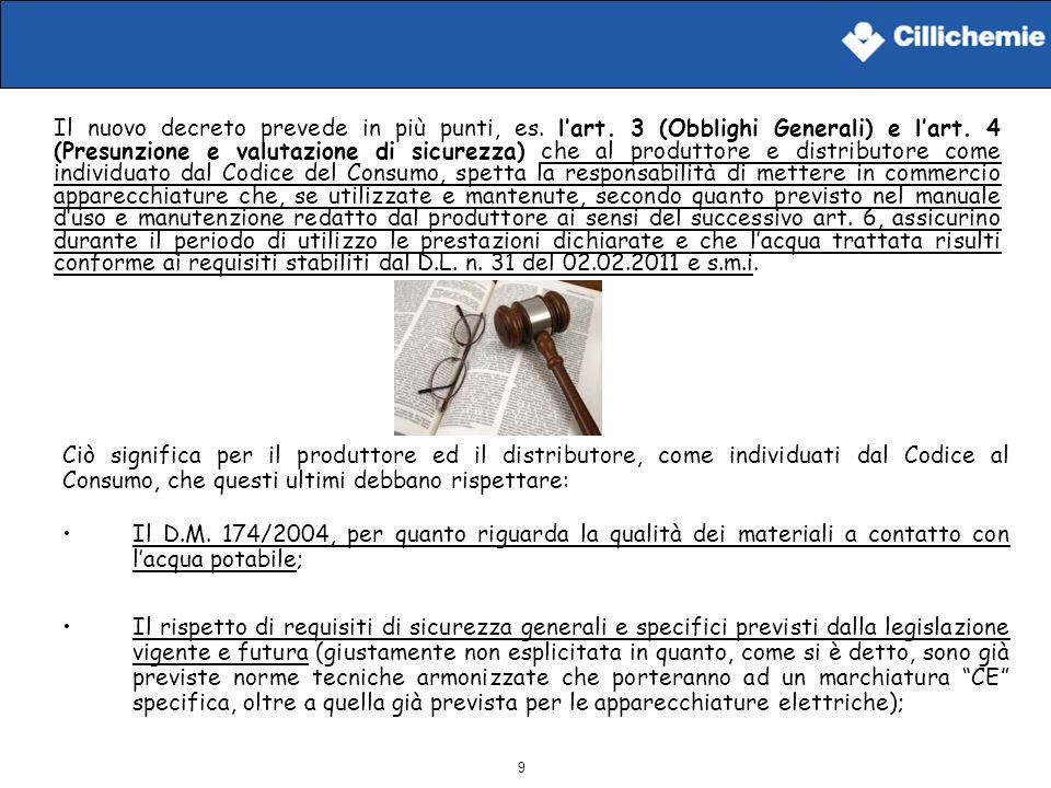 Il nuovo decreto prevede in più punti, es. l'art