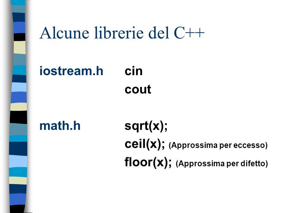 Alcune librerie del C++