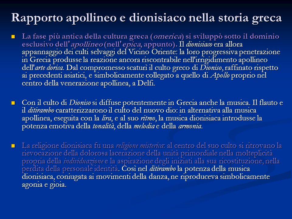Rapporto apollineo e dionisiaco nella storia greca