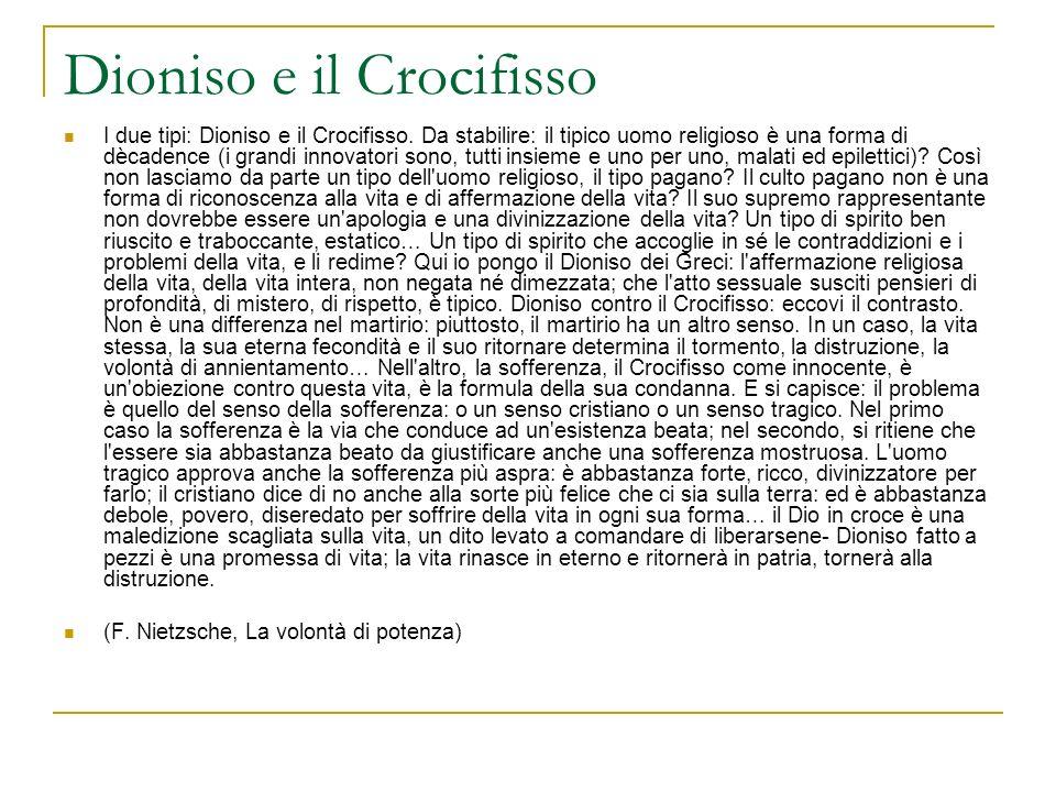 Dioniso e il Crocifisso
