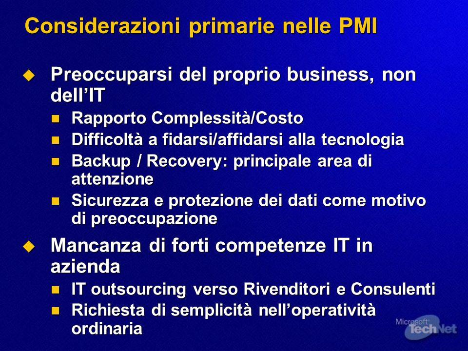 Considerazioni primarie nelle PMI