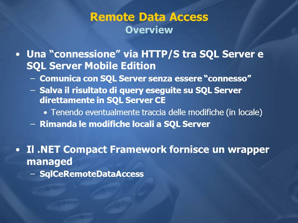 Remote Data Access Overview