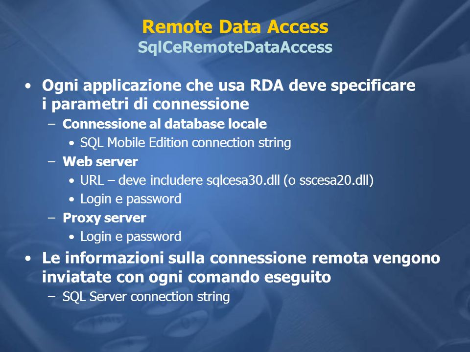 Remote Data Access SqlCeRemoteDataAccess