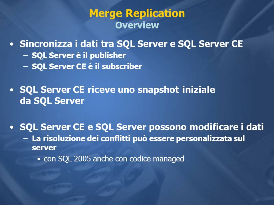 Merge Replication Overview