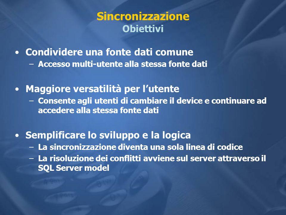 Sincronizzazione Obiettivi