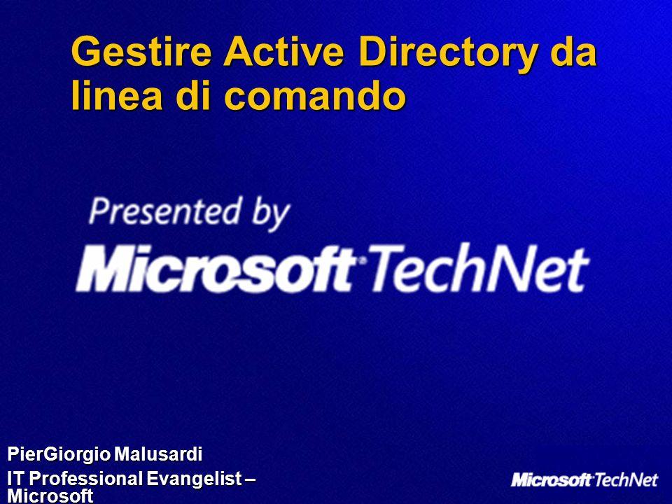 Gestire Active Directory da linea di comando