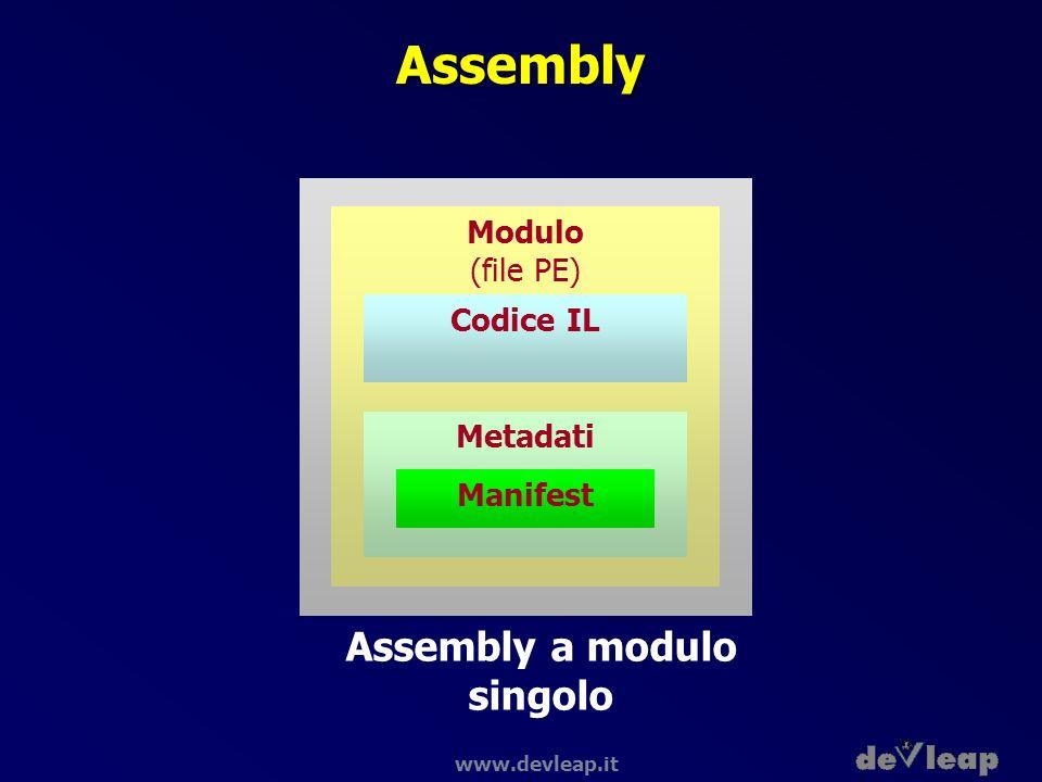 Assembly a modulo singolo