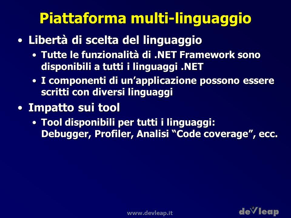 Piattaforma multi-linguaggio