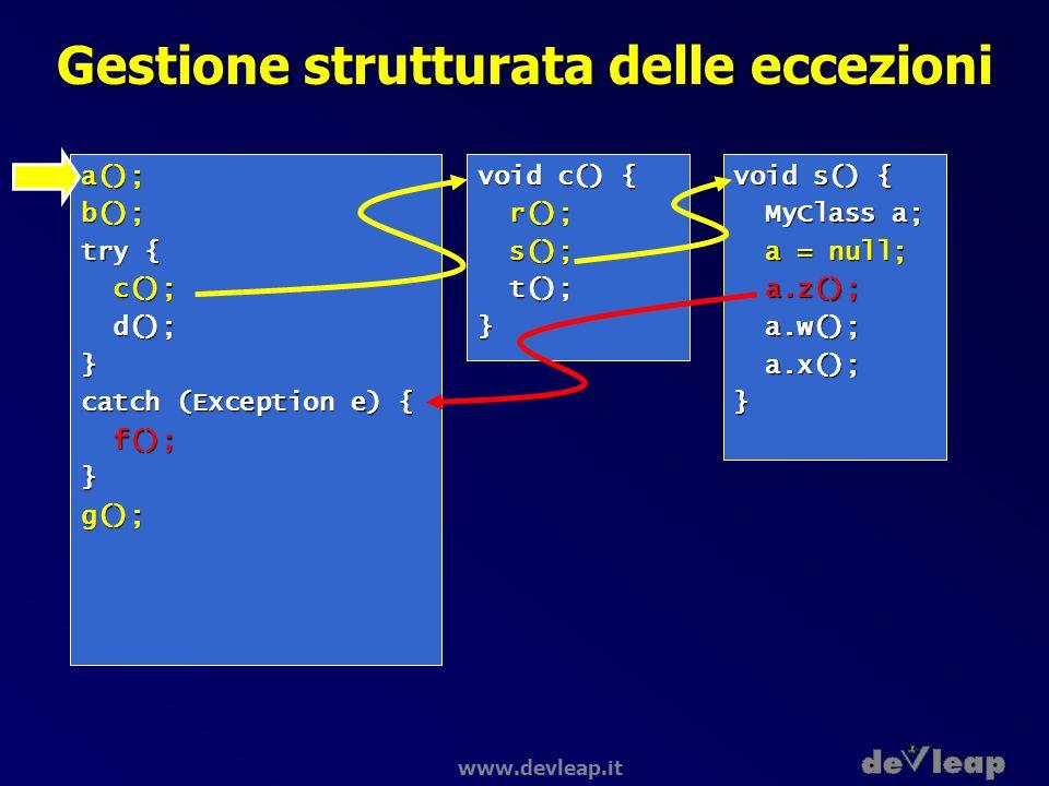 Gestione strutturata delle eccezioni