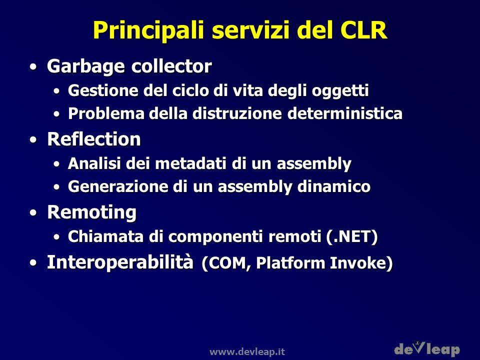 Principali servizi del CLR