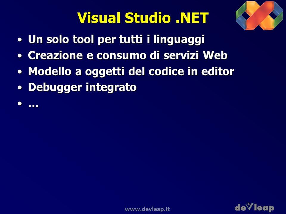 Visual Studio .NET Un solo tool per tutti i linguaggi