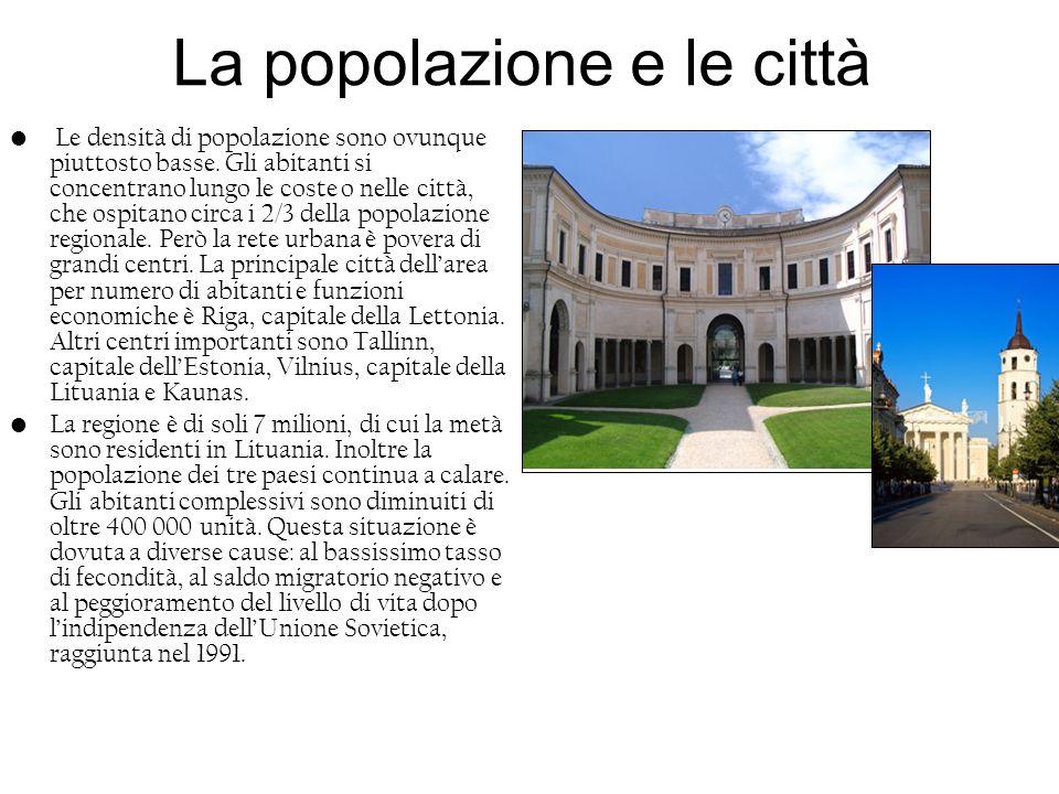 La popolazione e le città