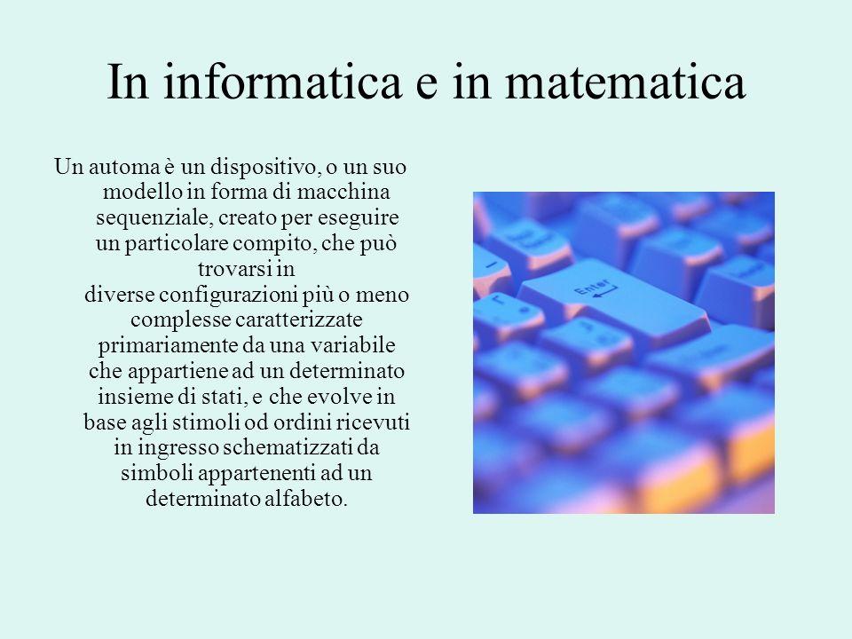 In informatica e in matematica
