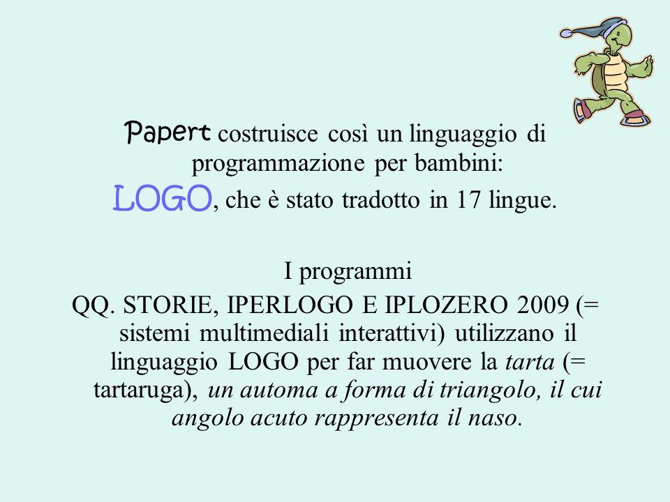LOGO, che è stato tradotto in 17 lingue.