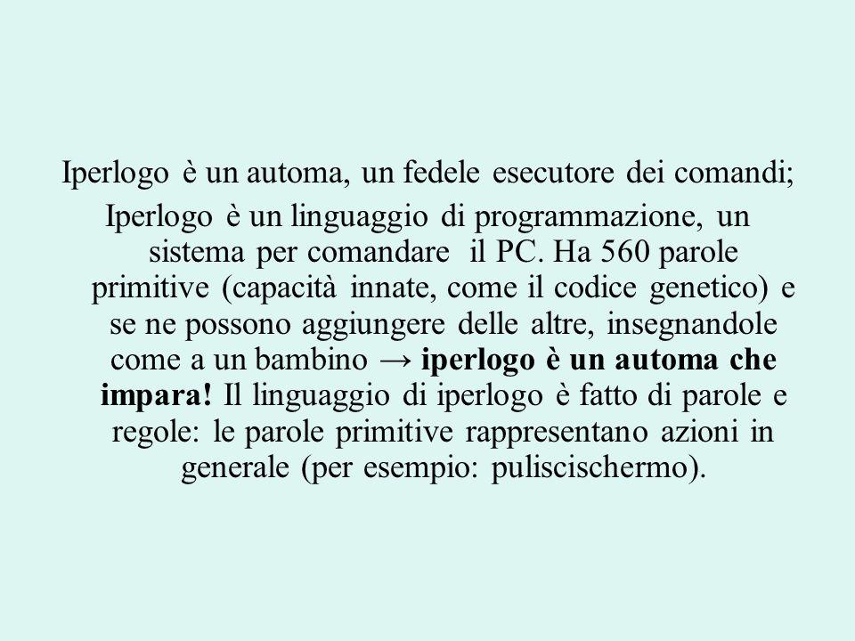 Iperlogo è un automa, un fedele esecutore dei comandi;