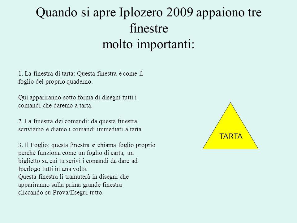 Quando si apre Iplozero 2009 appaiono tre finestre molto importanti: