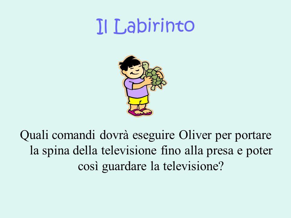 Il Labirinto Quali comandi dovrà eseguire Oliver per portare la spina della televisione fino alla presa e poter così guardare la televisione