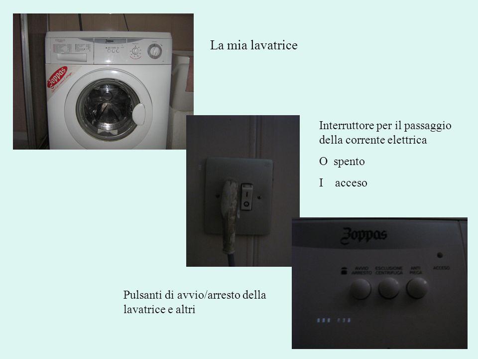 La mia lavatrice Interruttore per il passaggio della corrente elettrica.
