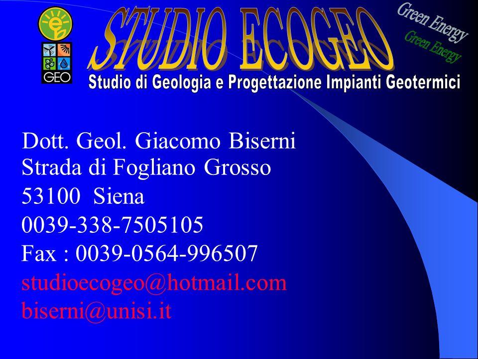 Studio di Geologia e Progettazione Impianti Geotermici