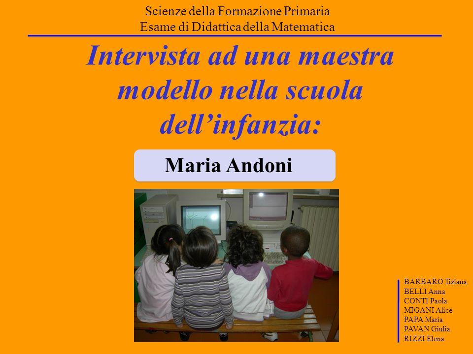 Intervista ad una maestra modello nella scuola dell'infanzia: