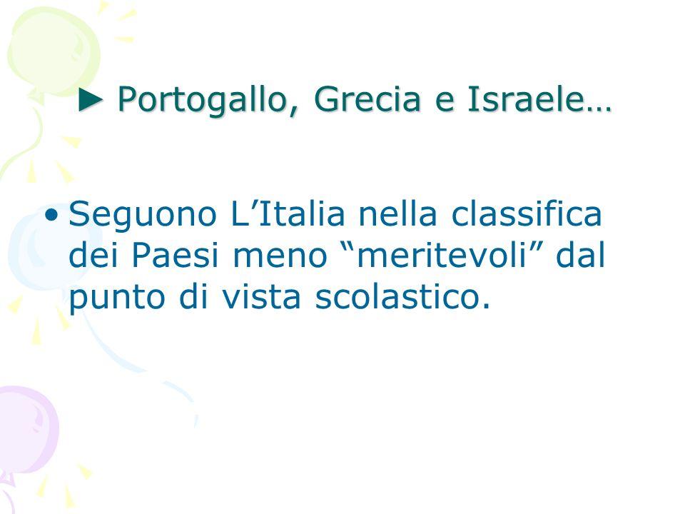 ► Portogallo, Grecia e Israele…
