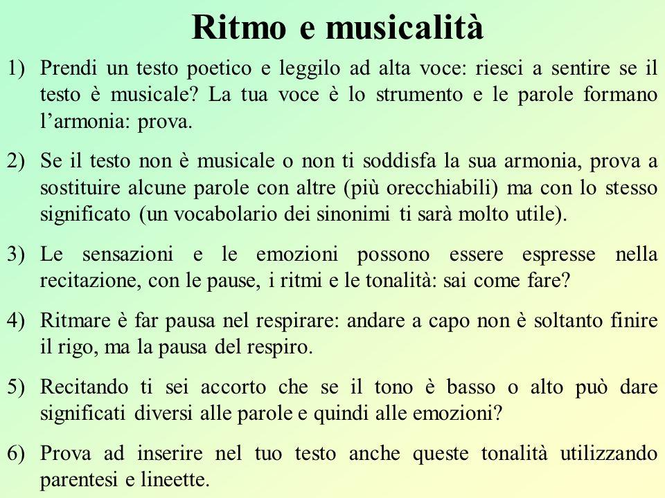 Ritmo e musicalità