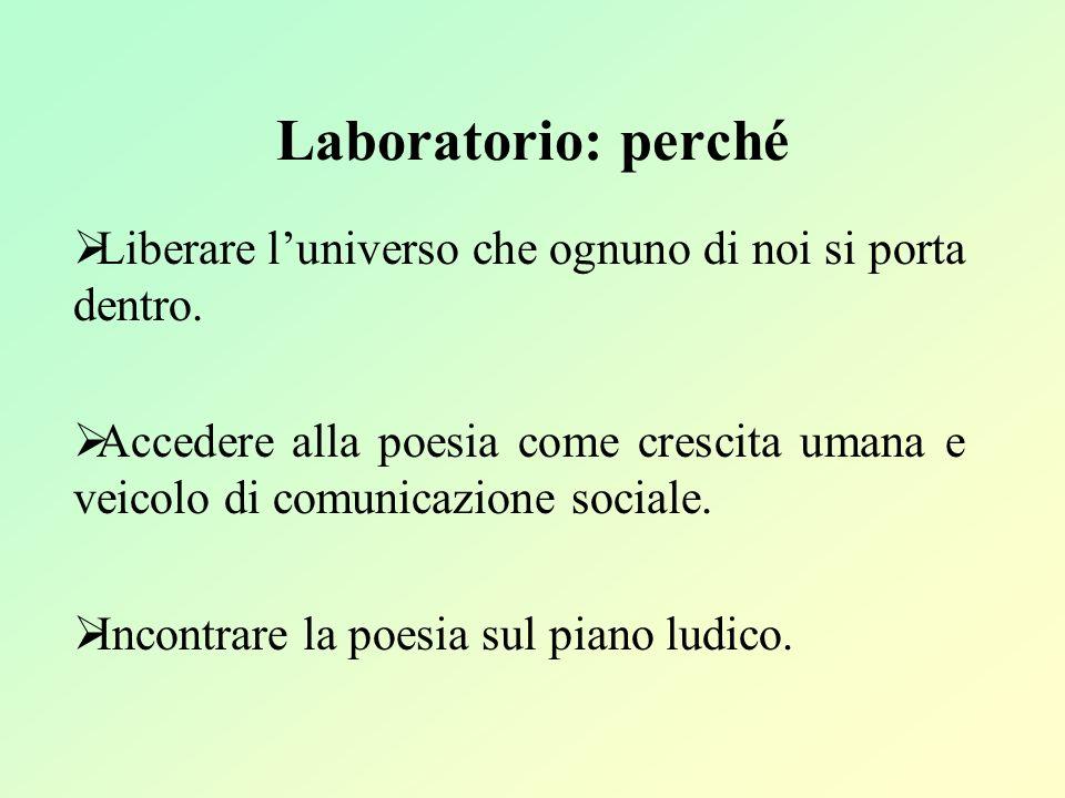 Laboratorio: perché Liberare l'universo che ognuno di noi si porta dentro.