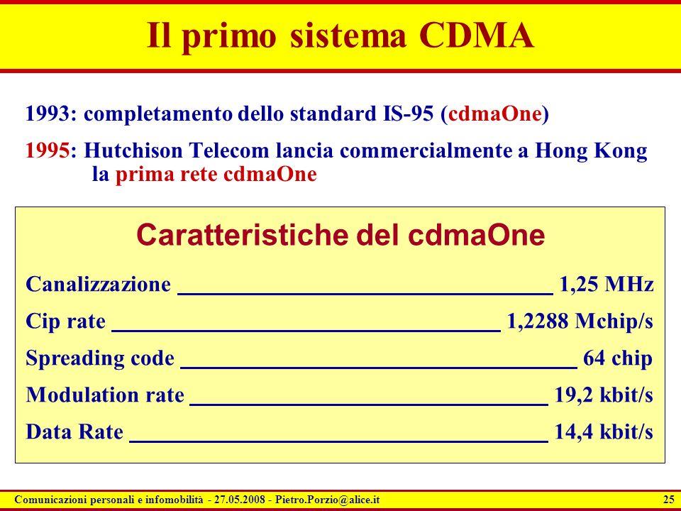 Caratteristiche del cdmaOne