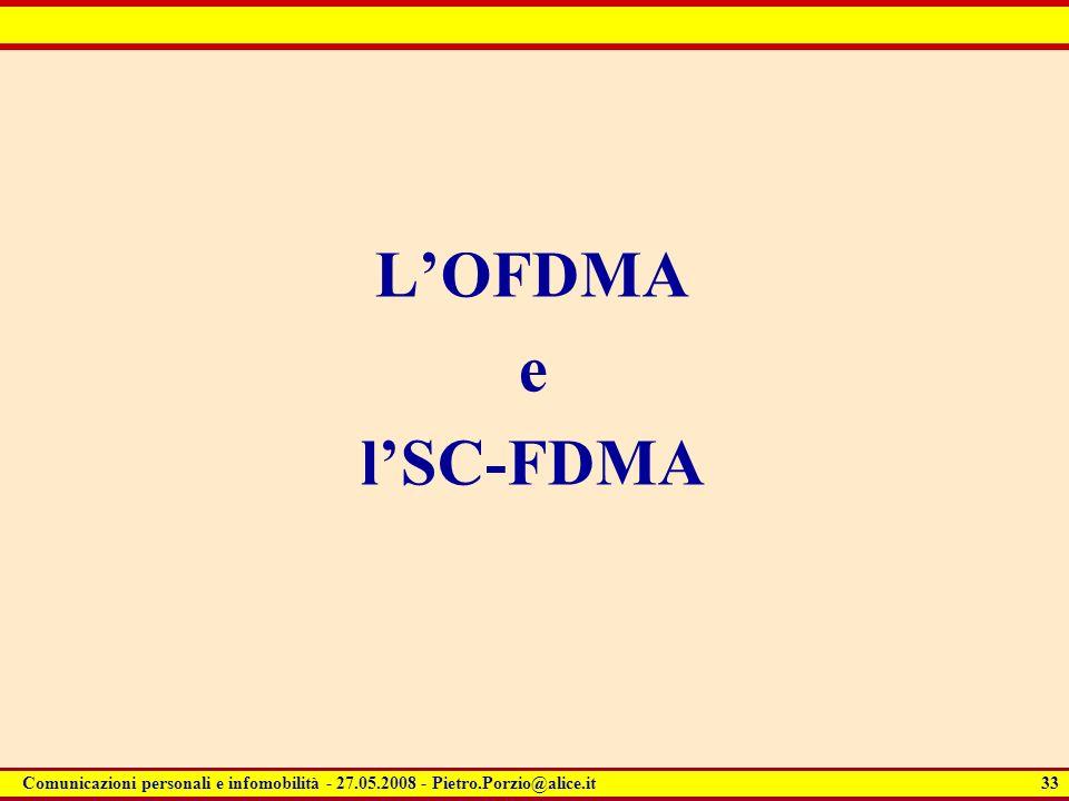 L'OFDMA e l'SC-FDMA