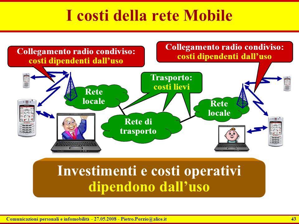 I costi della rete Mobile