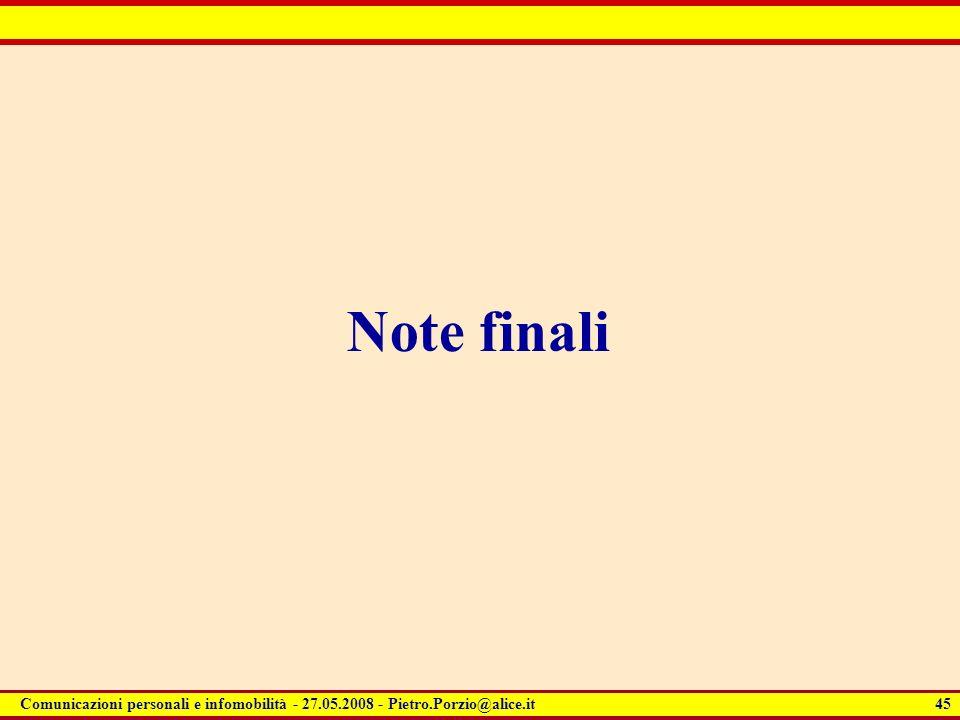 Note finali