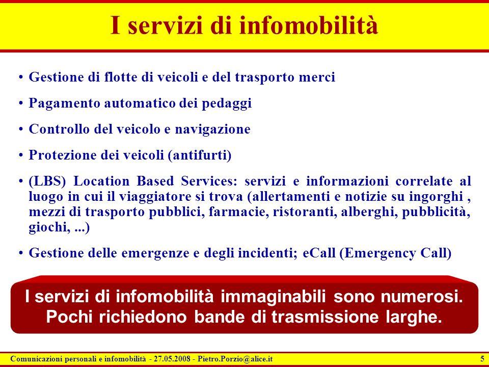 I servizi di infomobilità